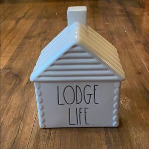 Rae Dunn lodge life decorative cabin